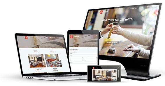 responsive views - Hotel & Resort WordPress Theme