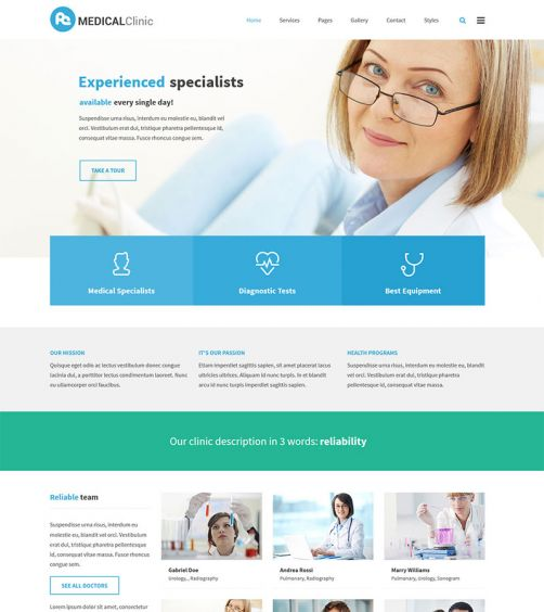 clinic company wordpress theme