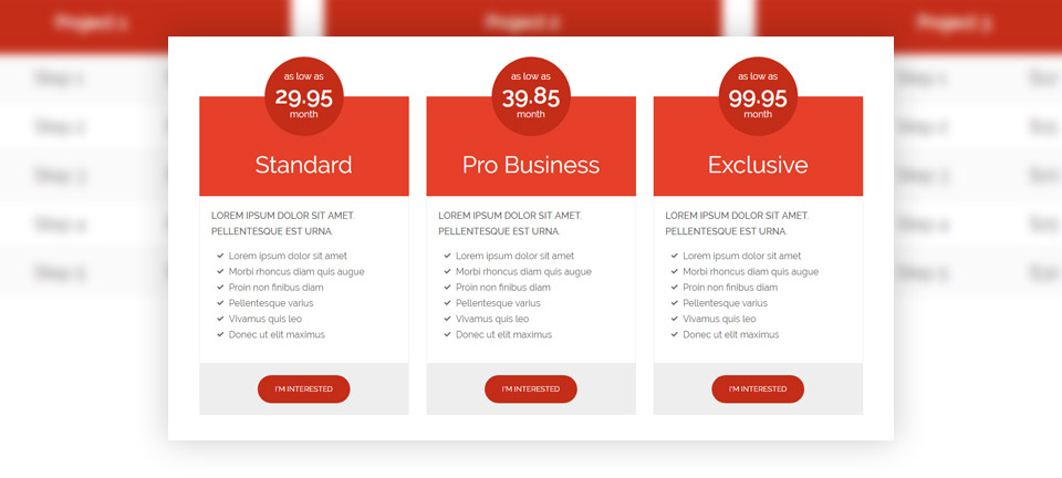 pricing responsive wordpress theme